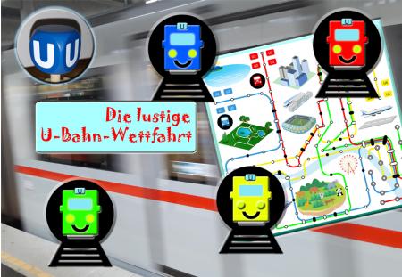 """Autorenspiel """"Die lustige U-Bahn-Wettfahrt"""" von Martin Predota"""