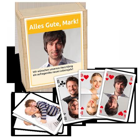 Personalisierte Spielkarten am Beispiel Poker - Gesamtansicht