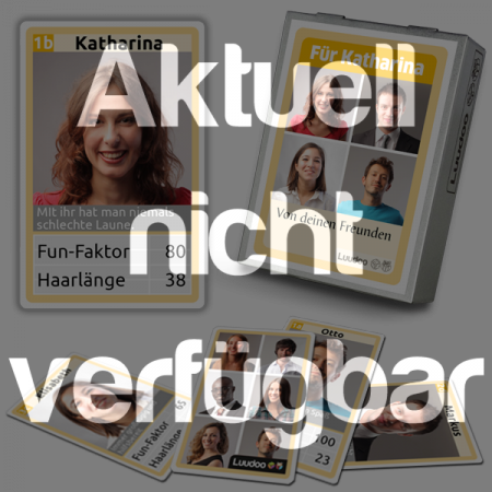 Personalisiertes Quartett als Geschenkidee für Geburtstage und Verabschiedungen - aktuell nicht verfügbar