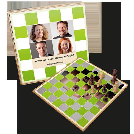 Personalisiertes Foto-Schachspiel zum Verschenken