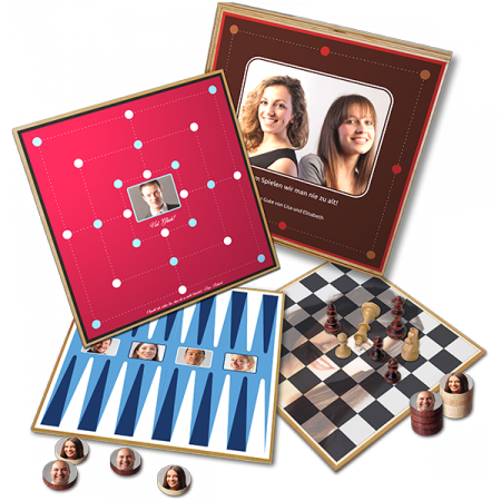 Personalisierte Spielesammlung als Geschenkidee - Gesamtansicht