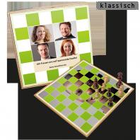Personalisiertes Schachspiel mit selbst gestalteten Schachfiguren als Weihnachtsgeschenk o. ä.