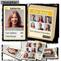 Foto-Quartett, personalisiert mit den eigenen Bildern für Kollegen und Freunde