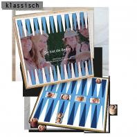 Persönliche Geschenkidee Backgammon mit den eigenen Bildern