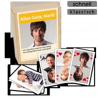 Selbst bedruckte, personalisierte Poker-Karten - die Geburtstags-Geschenkidee!