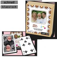 Personalisiertes Skatspiel als Weihnachtsgeschenk für den Opa oder Onkel