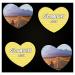Urlaubsfotos auf Memokarten in Herzform drucken