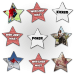 Als Weihnachtsgeschenk eignet sich ein Memo mit sternförmigen Karten besonders gut