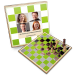 Klassisches Geschenk Schach, mit den eigenen Bilder und Texten veredelt