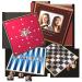 Klassische Spiele selbst gestaltet: Dame, Mühle, Backgammon, Schach
