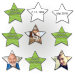 Lassen sie das Geburtstagskind rätseln, wie die Sternkarten dieses Memos zusammepassen